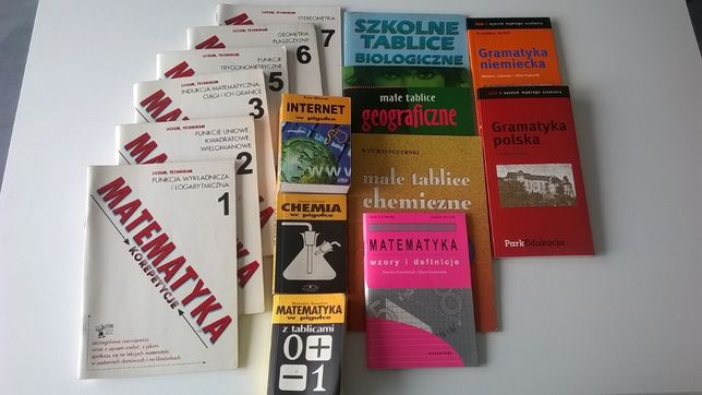Gramatyka, tablice -matematyka, geografia, niemiecki