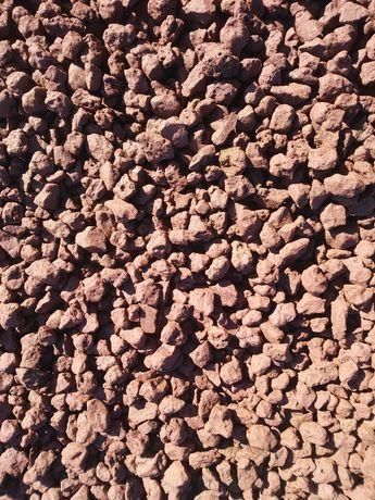 Lawa grys wulkaniczna, czerwona 8 - 16 mm, podłoże akwarium, terrarium