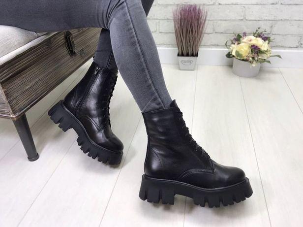 Ботинки сапоги новые.Зима.Натуральная кожа,набивная шерсть.Раз 37,38