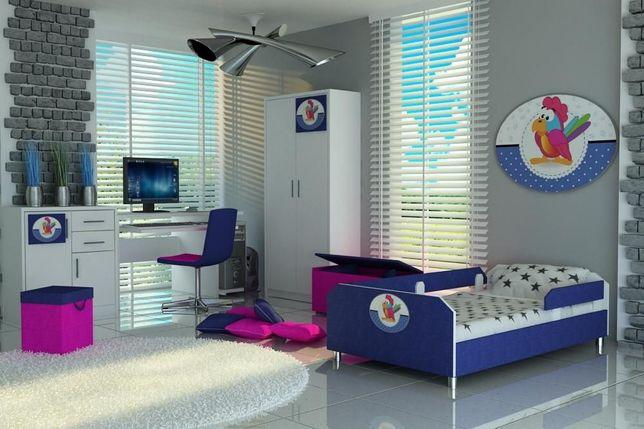 Łóżko dla dziecka z materacem i barierkami,łóżko dziecięce,3 wymiary