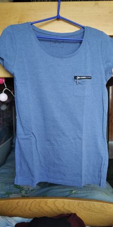 Bluzka damska niebieska z Sinsay