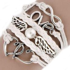 bransoletka serce znak nieskończoności skrzydła LOVE Dzień Matki