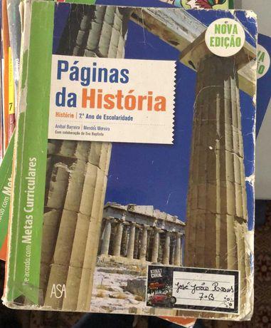 Livros 7º Ano - História; Português; Geografia; Espanhol
