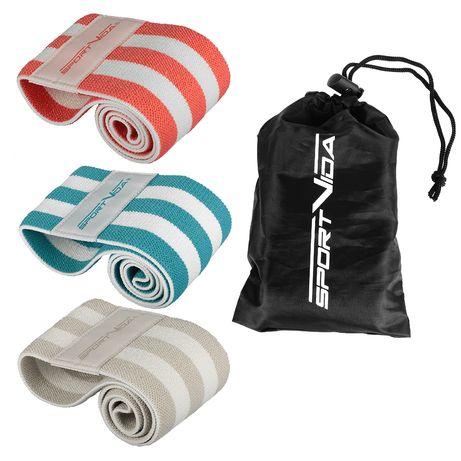 Резинка для фитнеса и спорта тканевая SportVida Hip Band 3 шт SV-