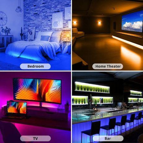 Swiatła RGB LED 5m sterowane bluetooth z telefonu. Nowe