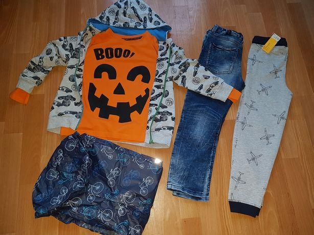 Zestaw ubrań dla chłopaka roz.122-128 +GRATIS BUCIKI