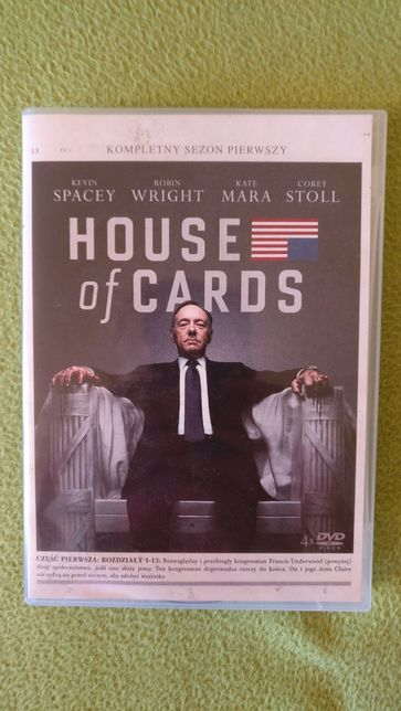 House of Cards DVD sezon 1 płyty oryginalne stan idealny
