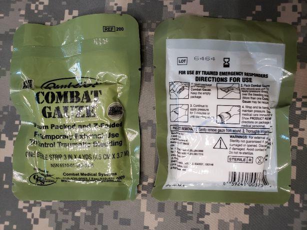 Quikclot Combat Gauze Кровоостанавливающий Бинт Гемостатик Аптечка США