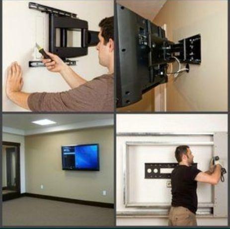 Установка ТВ на стену
