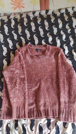 Женский бархатный оверсайз свитер primark