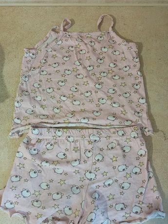 Летняя пижама для девочки 2-4 года