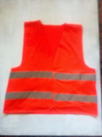 оранжевый люминесцентный  сигнальный жилет XXL