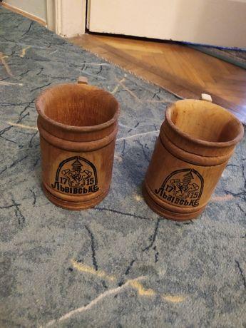 Сувенір, декор деревяні бокали