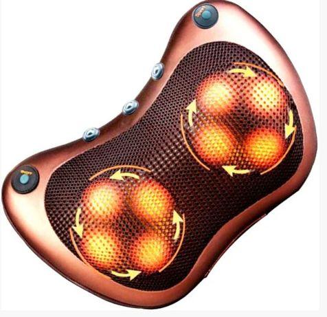 Массажная подушка инфракрасный роликовий массажер для шеи и спины