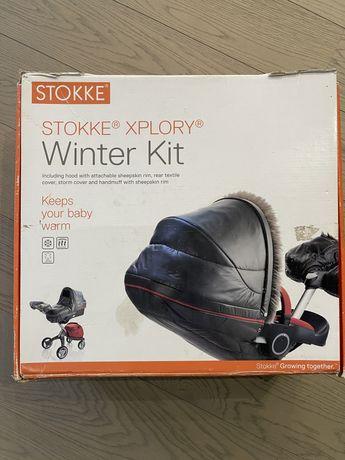 Winter kit stokke, зимник, чехол для коляски.