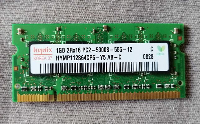 RAM 1GB 2rx16 pc2-5300s-555-12