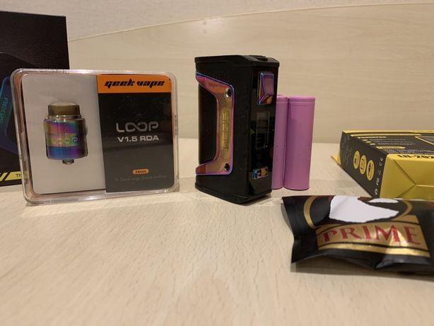 Вейп Aegis Legend 200w, Дрипка Loop 24mm (ТОРГ)