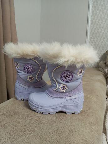 Зимние сапоги сапожки 12,5-13см стелька чобітки .