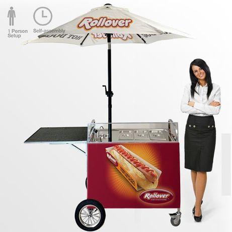 Nowy Wózek gastronomiczny Hot Dog stoisko gazowe wysyłka