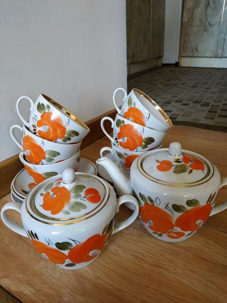 Чайний набір на 6 персон (14 предметів)+маслянка