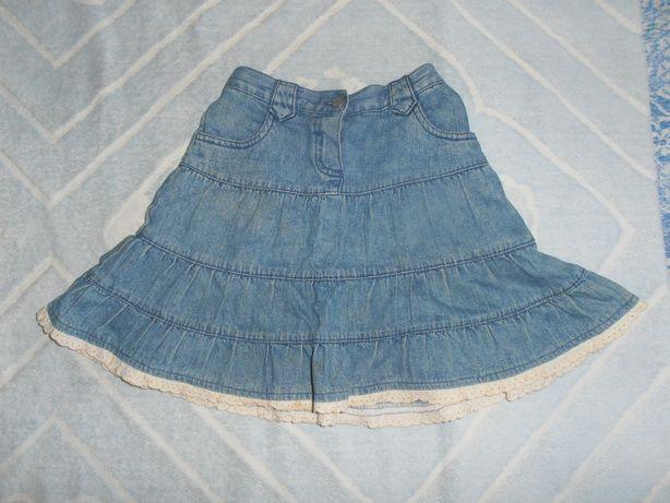Юбочка джинсовая на девочку 5-6 лет