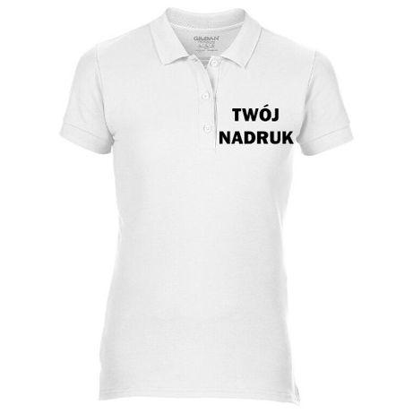 Koszulka polo damska z nadrukiem | Gildan