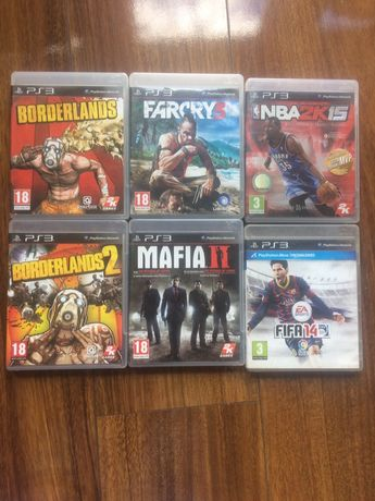 Gry ps3 far cry 3 borderlans mafia fifa nba