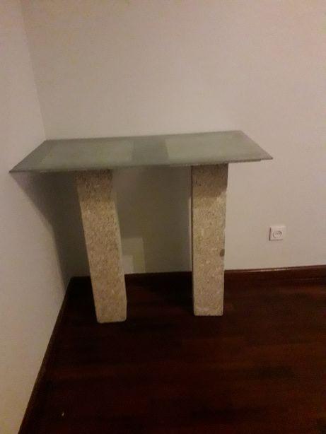 Móvel Tampo Vidro/Pedra