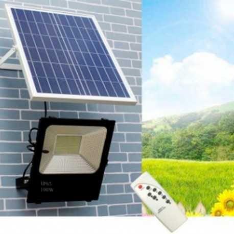 Projetor LED 50W c/ PAINEL SOLAR