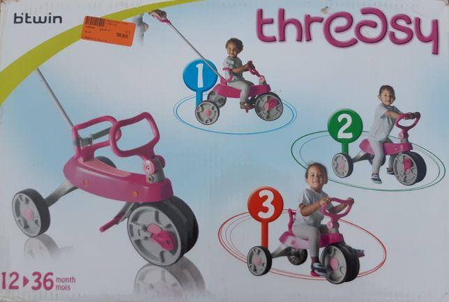 Rower 3-kołowy 3w1 B'TWIN dla dziecka 1-3 lat.
