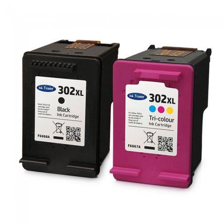 Pack Tinteiros Compatíveis HP 302XL - Preto/Cores