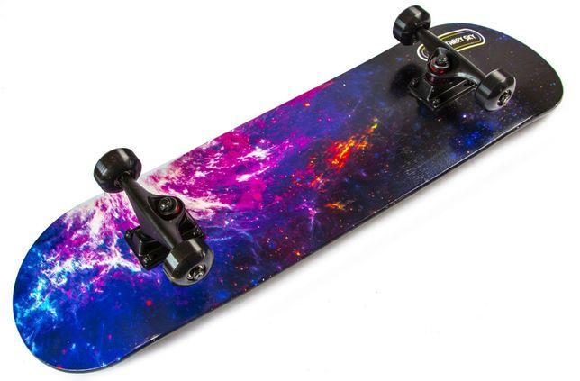 """Скейтборд деревянный для трюков """"Scale Sports"""" Starry Sky до 90 кг"""