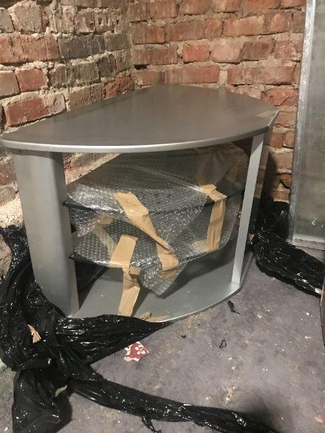 stolik pod telewizor - szklane półki