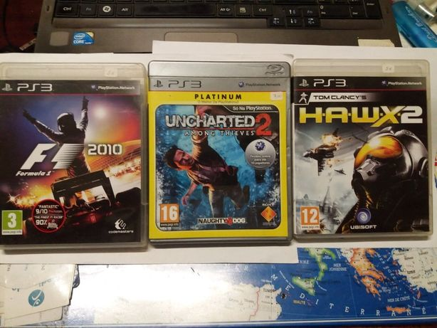 Jogos PS3 - Tom Clancy's Hawx2; Uncharted2 among thieves; F1 2010