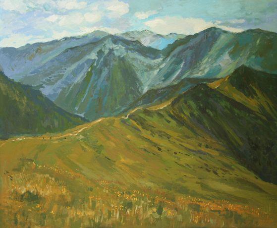 Pejzaż tatrzański widok z Kasprowego Wierchu Tatry obraz