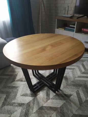 Стіл круглий дерев*яний \стол деревянный скандинавский \журнальный с
