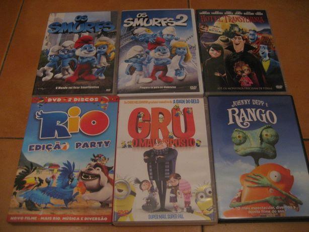DVD de animação: Hotel Transylvania, Gru Maldisposto, Rio, Rango, TMNT