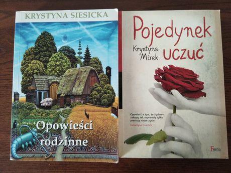 """Książki: K. Siesicka """"Opowieści rodzinne"""", K. Mirek """"Pojedynek uczuć"""""""