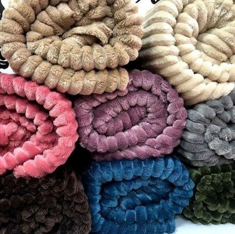 Бамбуковый плед, микрофибра, шарпей, пололоска. Colorful.