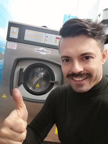 Máquina de lavar roupa e secar industrial lares e Residências