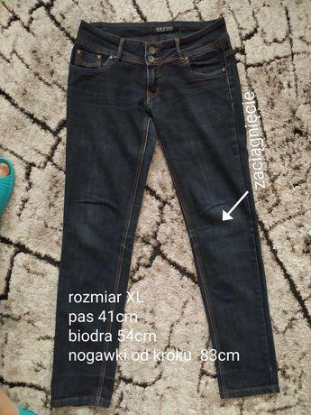 Spodnie jeansowe z niskim stanem