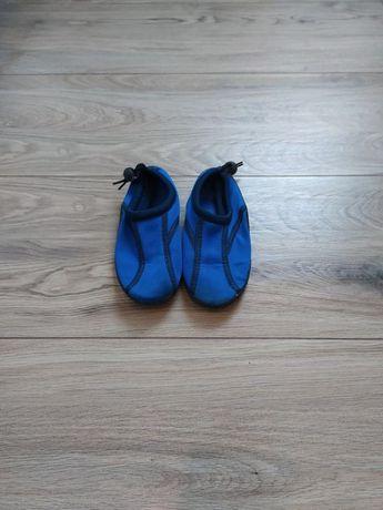 Buty sportowe trampki 27 na ściągacz niebieskie