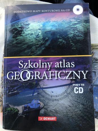 Atlas geograficzny do liceum gimnazjum podstawówki + płyta CD