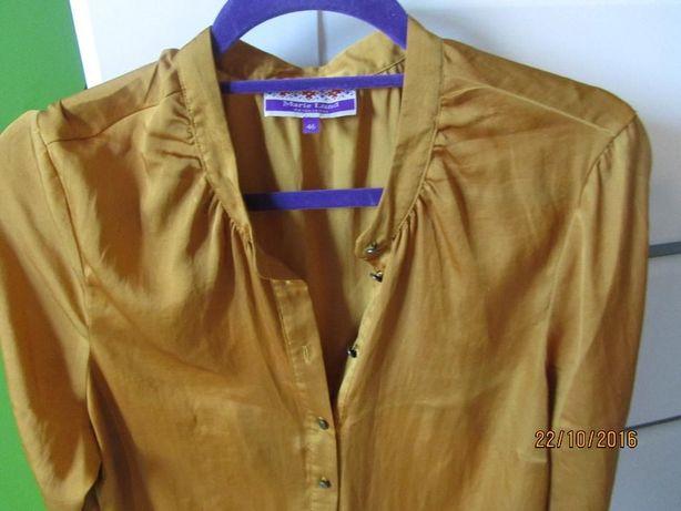 koszula musztardowa 44 46 Marie Lund złota bluzka XL XXL
