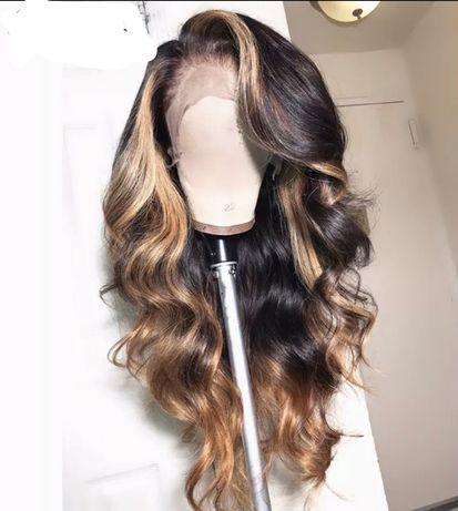 Peruka włosy ludzkie od 30-60 cm,lace front