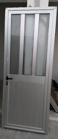 Porta aluminio  vidro duplo