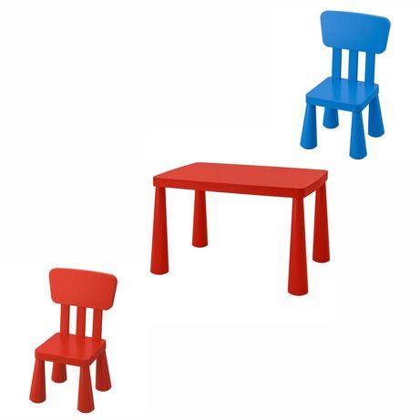 Комплект стіл і 2 стільчика новий ОРИГІНАЛ ІКЕА MAMMUT для дітей
