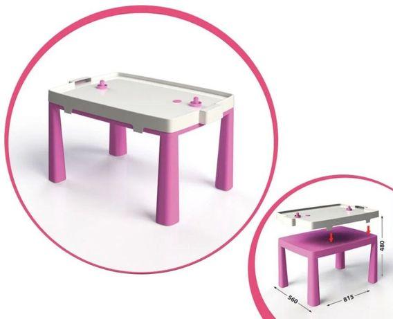 Стол детский и стульчик, пластиковый, игра в хоккей, новый столик