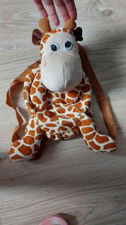 Plecak pluszowy żyrafka.