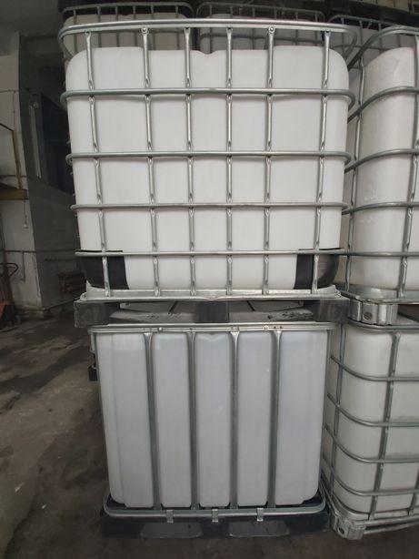 Pojemniki 1000l czyste w środku na budowę paliwo adblue deszczówkę